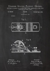 pneumatic tool hammer screw driver screwdriver patent drawing machine mechanic workshop blackboard blueprint chalk man mancave plane