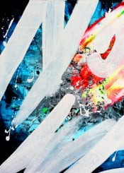 painting paint brush strokes visual poetry contemporary abstract colorful futurist futuristic cyberpunk calligraffiti calligraphy graffuturism fire water cryptic