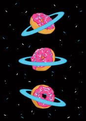 donuts planet cosmic nasa galaxy moon sweet idea concept imagination illustration pop design doughnut stars universe
