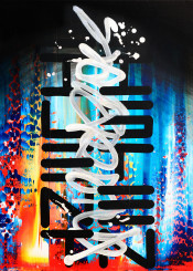 painting paint brush strokes contemporary calligraphy calligraffiti graffiti tag handstyle pop graffuturism geometric urban colorful fire water sky american cryptic street drip futuristic