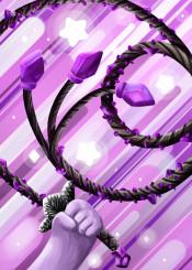 purple whip pink stars cartoon digital digitalart