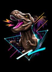 trex tyrannosaurus rex dino dinos dinosaur dinosaurs animal animals prehistoric 80s retro