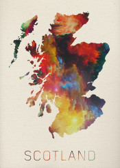 scotland edinburgh uk britain scottish watercolor map