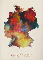 germany watercolor map berlin