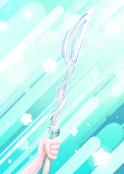 digital digitalart blue spear stars universe fun
