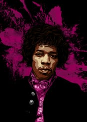 jimi hendrix rock illustration music guitar 27club vector guitarist love watchtower