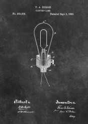 patent patents edison electric lamp innovation electricity decoration