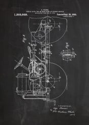 tractor farm patent drawing blackboard blueprint village offroad off road vintage engine project