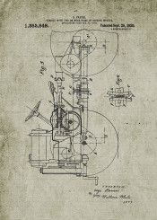 vehicle farm patent drawing tractor john deere off road offroad blackboard blueprint project vintage old car cars