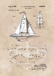 patent patents boat sail sailing sea rigging decor decoration illustration