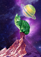 star nebula cats saturn galaxy mountain cute space cosmos purple