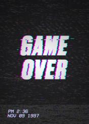 gameover vhs vcr cassette tv vintage retro 90 80 videogame gaming gamer