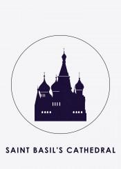 silhouette landmark display minimalistic saintbasil cathedral moscow russia beautifulplace beautiful