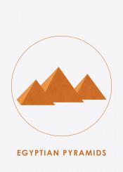 landscape display egypt pyramid silhouette landmark beautiful places