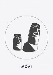 moai rock beautiful place landscape collection display landmark silhouette