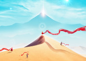 journey landscape gaming videogame playstation desert minimal minimalism mountain scene stars sun blue sand dune nature surreal fantasy