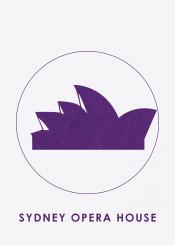 beautiful places opera sydney australia silhouette landmark displate