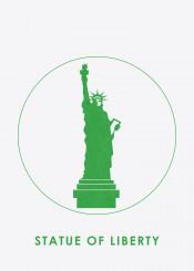 statueofliberty newyork usa liberty beautifulplaces beautiful minimalistic landmark silhouette