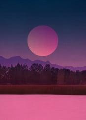 minimal landscape modern graphics sunset