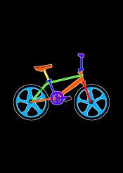 bmx bike bicycle 80s eighties orange yellow blue red urban street mag wheels light bright retro old school skool