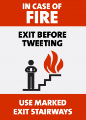 humor incaseoffire firescape buildingsigns pardoy scarcastic twitter socialmedia emergency funny nerd geek witty