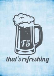 f5 computer refreshing beer stein drink college dorm science nerd humor geek student engineering keyboard button