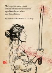 bushido japanese japan kimono katana sword warrior swordswoman zen motivational