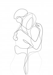 couple lovers line draw black white woman