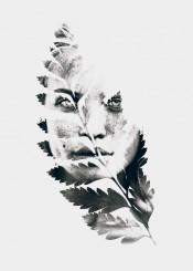 leaf leaves woman portrait photography