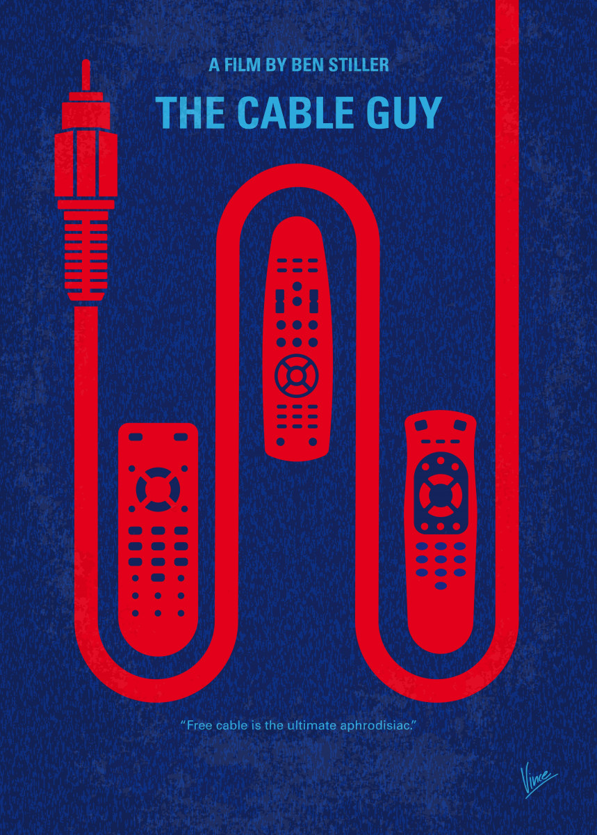 No948 My The Cable Guy minimal movie poster