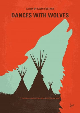 minimal movie film artwork cinema graphic design chungkong fan quote inspiration minimalist original alternative dances with wolves lieutenant sioux tribe john dunbar plains frontier civil war outpost indians western wilderness dakota