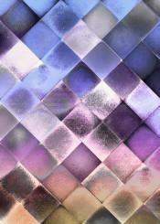geometric mosaic blue purple pastel checked modern conceptual piaschneider plaid graphicdesign decorative colourful pattern