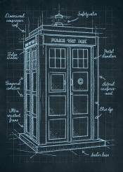 doctor who tardis sketch phone english britannic