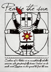 dark soul knight solar man vitruvian praise sun