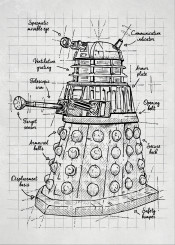 doctor who dalek alien robot extermination