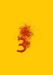number three tellow brown paprika type typography