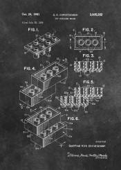 patent patents toy brick bricks building decoration white black