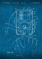 apple ipod patent mp3 player vintage blueprint