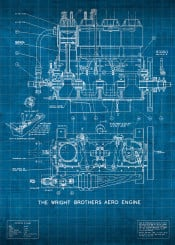 wright brothers wrightbrothers flight engine patent blueprint