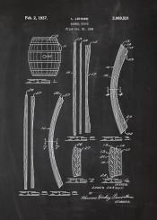 barrel whiskey whisky bar bars drink drinks beer beers vodka spirit blackboard blueprint blackprint patent drawing drunk