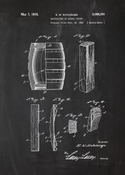 barrel whiskey beer vodka patent drawing johnny walker jack daniels drink party alkohol fun blackboard blueprint blackprint vintage old cherry