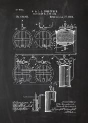beer making bar bars cafe drink party alkohol whiskey vodka johnny walker jack daniels blackboard blueprint vintage patent drawing