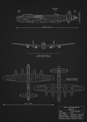 avro lancaster bomber heavy raf air force plane aircraft combat weapon war dark black blueprint schematic diagram patent
