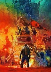 mad max movie action canvas painting