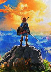 zelda link video games canvas paintings