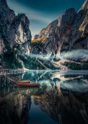 italy lake view nature clouds skies mountain