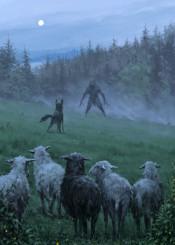 werewolf jakubrozalski fantasy painting dark storytelling illustration