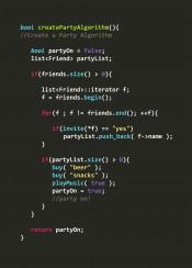 create party algorithm code cplusplus c programmer language