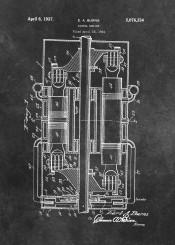 patent patents engine engineering diesel machine decor decoration black white