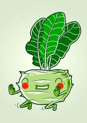 sport vegetables kohlrabi green colorful happy motivation